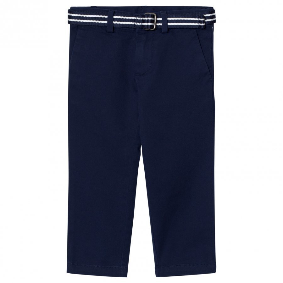 Ralph Lauren Navy Cotton Chinos Housut