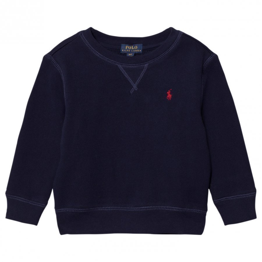 Ralph Lauren Navy Crew Neck Sweatshirt Fleece Paita