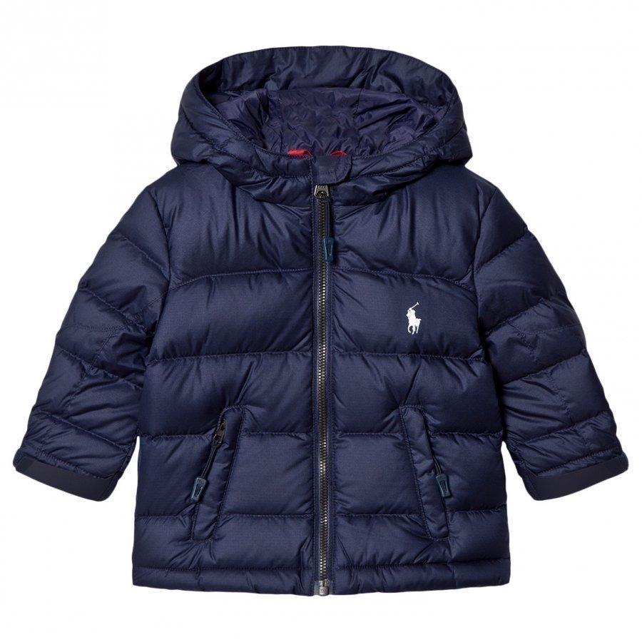 Ralph Lauren Navy Down Puffer Jacket Toppatakki