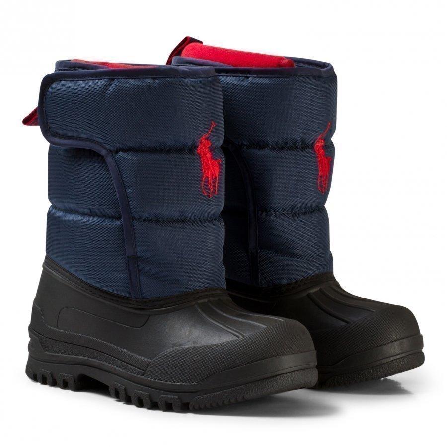 Ralph Lauren Navy Hamilten Ii Snow Boots Red Pony Talvisaappaat