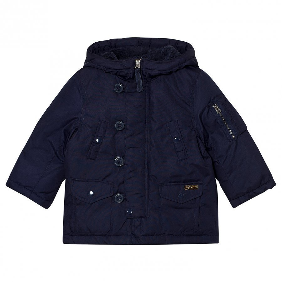 Ralph Lauren Navy Hooded Down Jacket Parkatakki