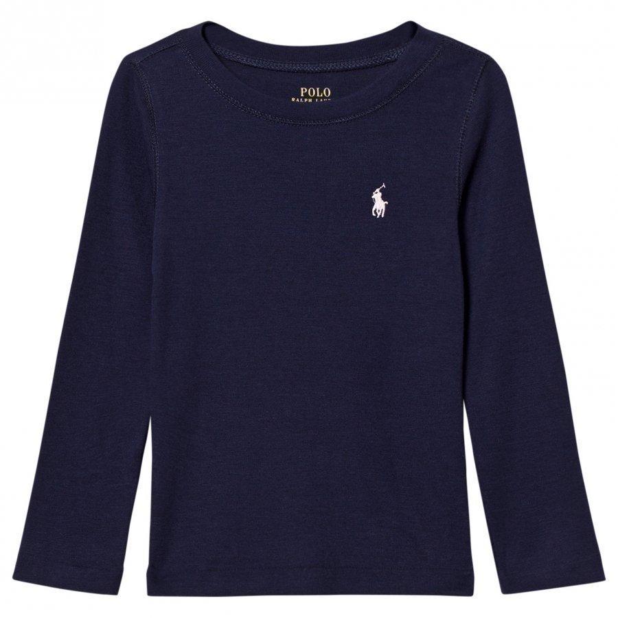 Ralph Lauren Navy Ultra-Soft Long Tee Pitkähihainen T-Paita