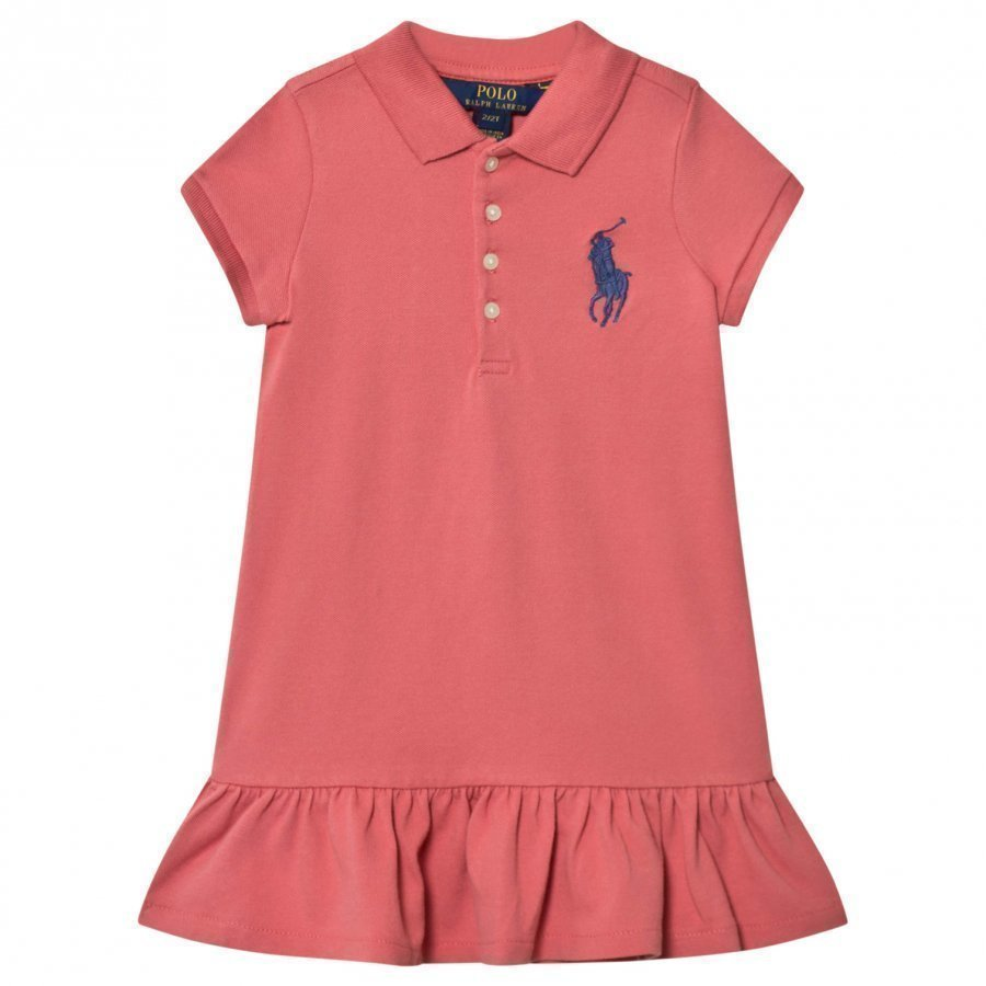 Ralph Lauren Pink Big Pony Polo Dress Pikeemekko