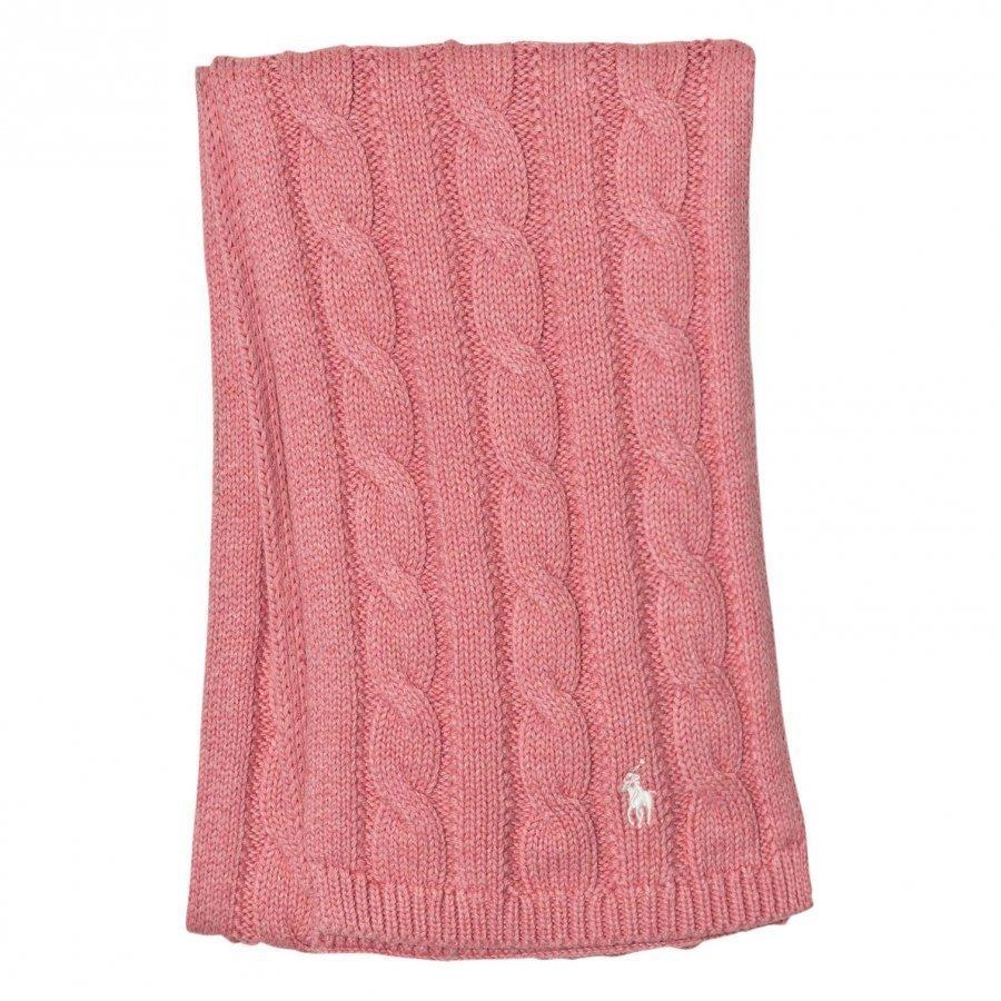 Ralph Lauren Pink Cable Knit Scarf Villahuivi