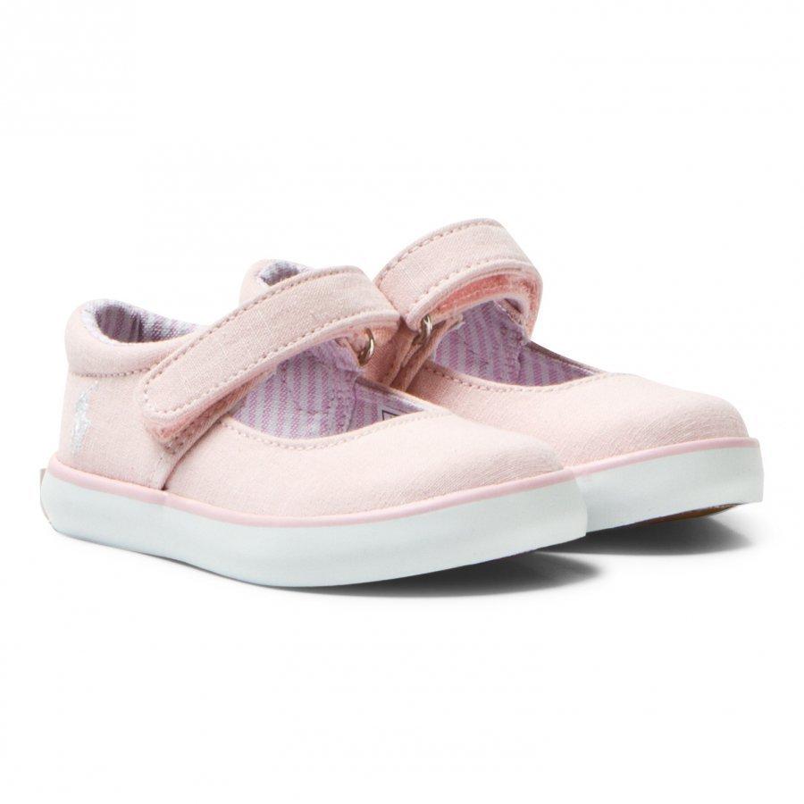 Ralph Lauren Pink Chambray Pippa Mary Janes Maryjane Kengät