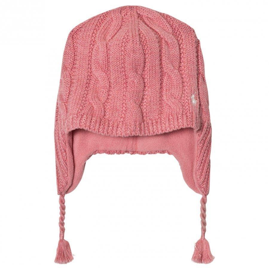 Ralph Lauren Pink Earflap Hat Pipo