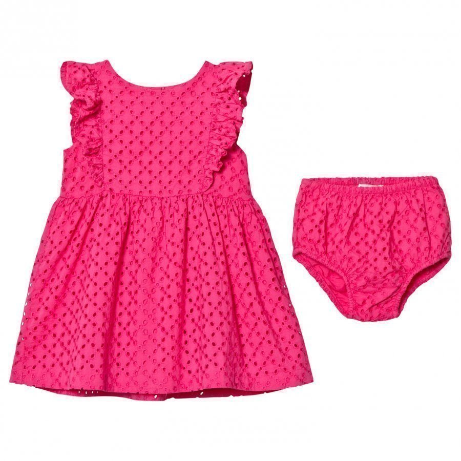 Ralph Lauren Pink Eyelet Dress Juhlamekko