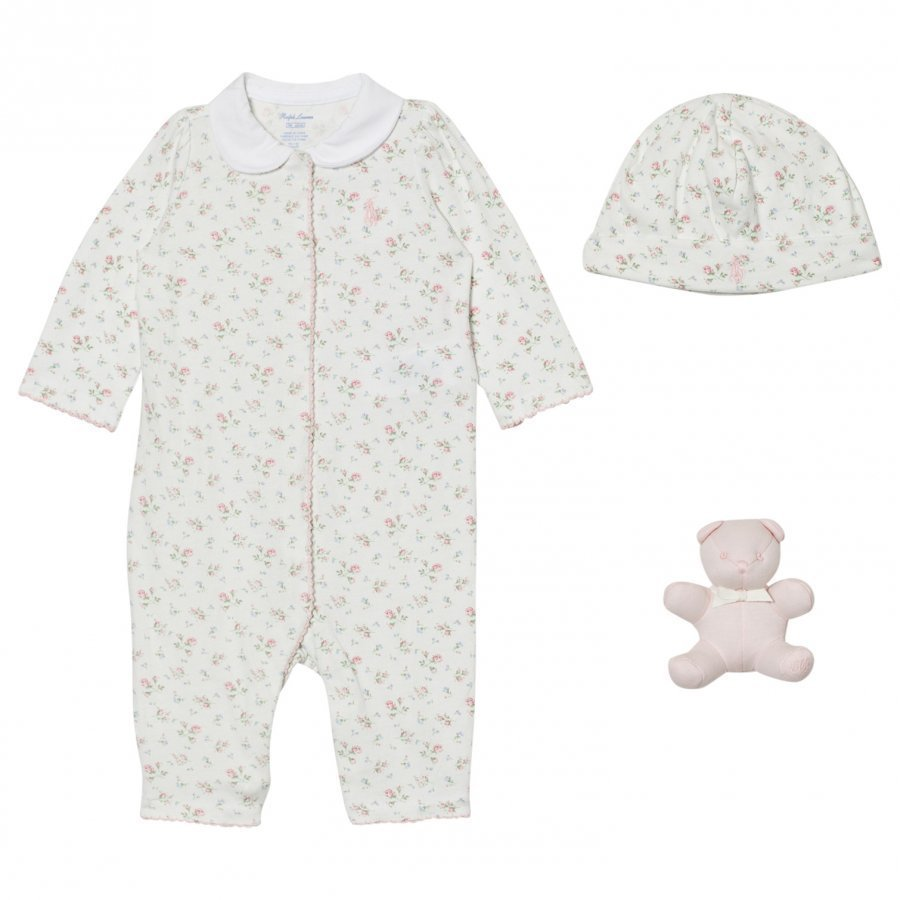 Ralph Lauren Pink Floral Baby One-Piece Gift Set Lahjasetti
