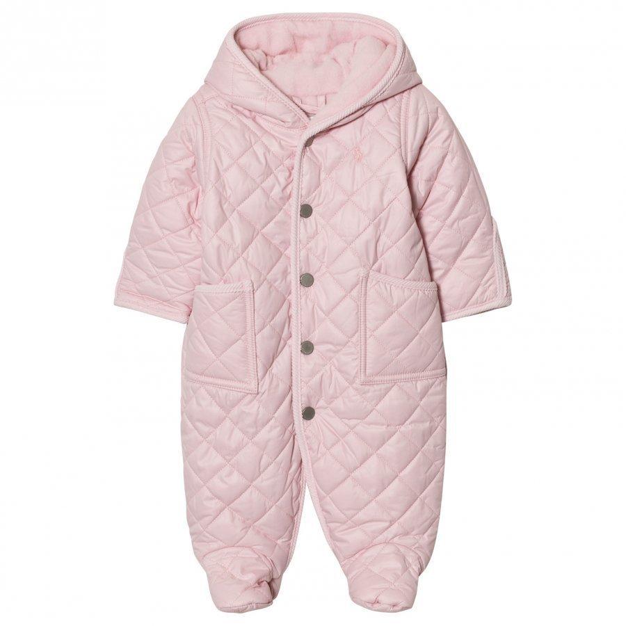 Ralph Lauren Pink Quilted Coverall Vauvan Haalari