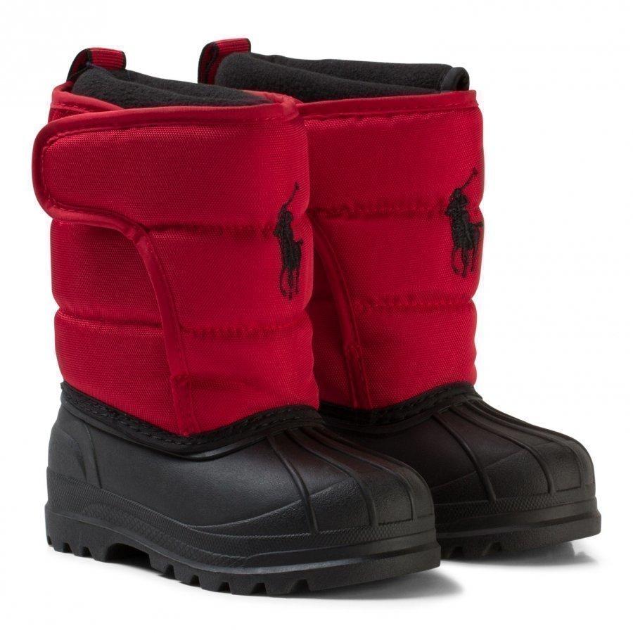 Ralph Lauren Red Hamilten Ii Snowboots With Red Pony Talvisaappaat