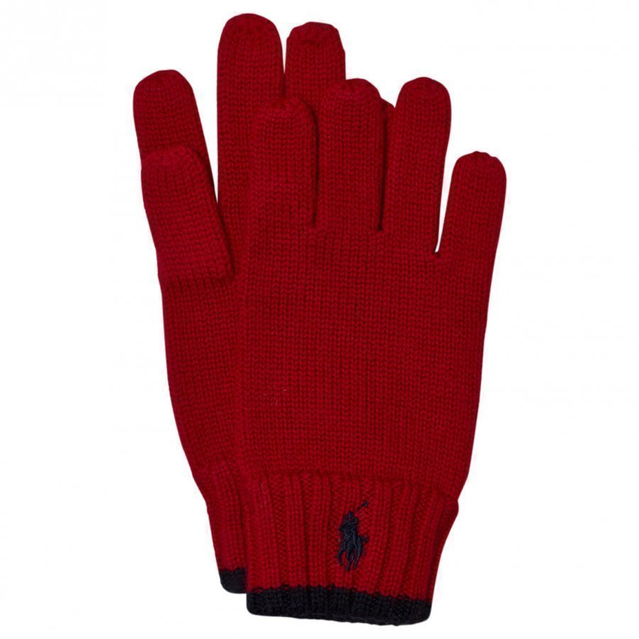 Ralph Lauren Red Merino Gloves Villahanskat