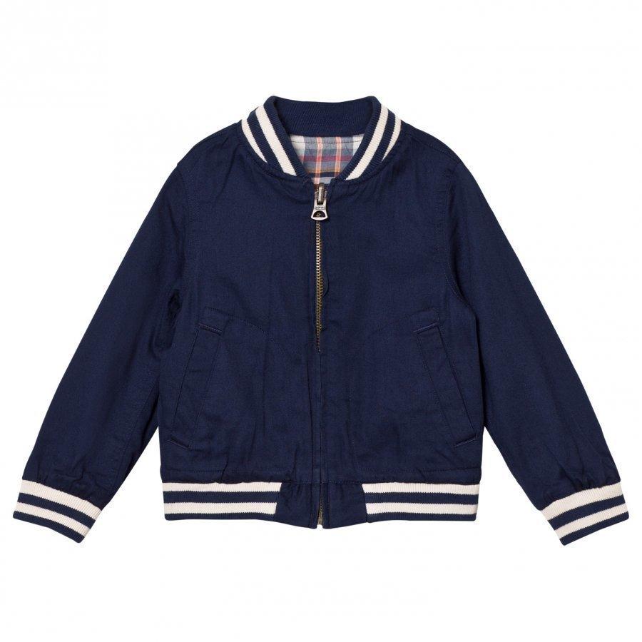 Ralph Lauren Reversible Baseball Jacket Navy/Pink Bomber Takki