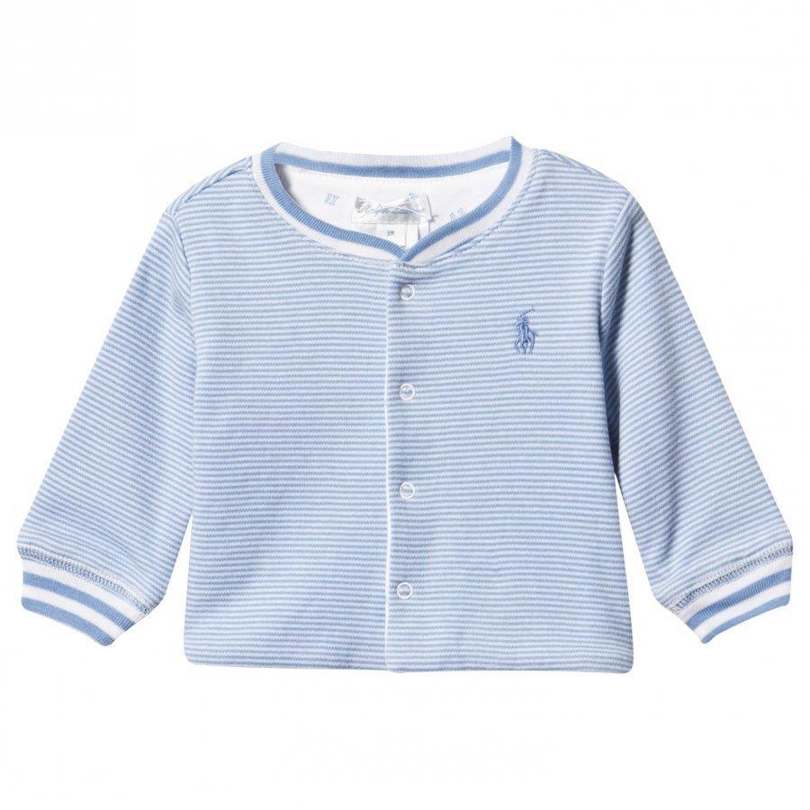 Ralph Lauren Reversible Cotton Cardigan Sconset Blue/White Neuletakki