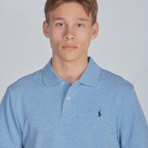 Ralph Lauren Slim Polo Tops Knit Pikee Sininen