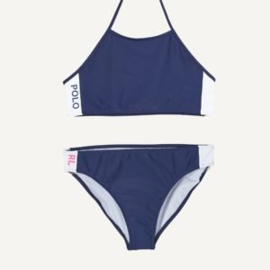 Ralph Lauren Solid Swimwear 2 Pc Swim Bikinit Sininen