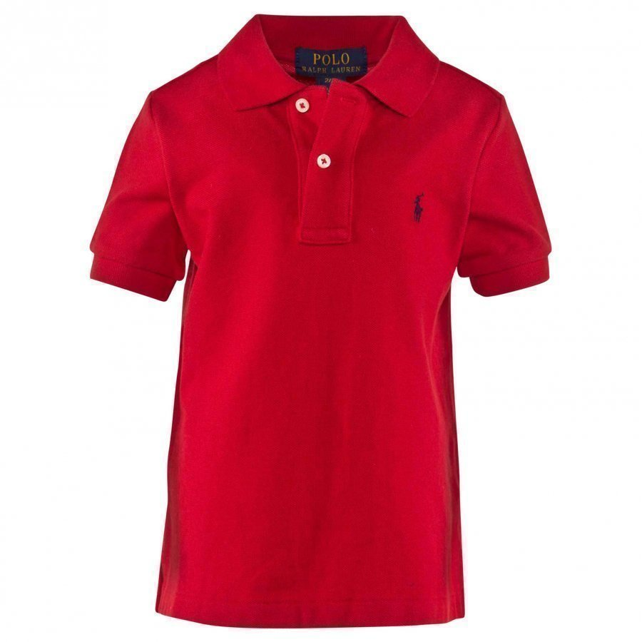 Ralph Lauren Ss Classic Polo New Red Pikeepaita