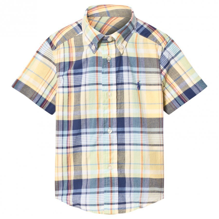 Ralph Lauren Yellow Madras Check Shirt Kauluspaita