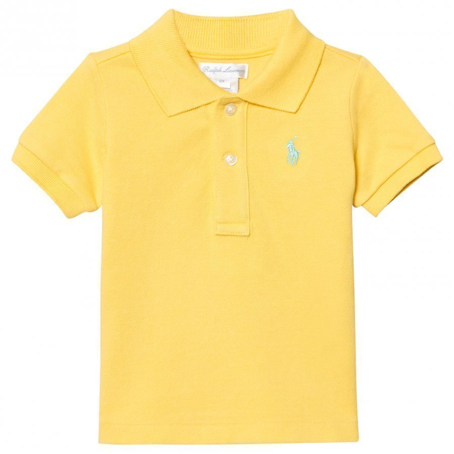 Ralph Lauren Yellow Pique Polo Pikeepaita