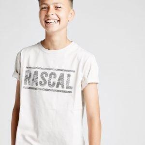 Rascal Pixel Logo T-Shirt Ruskea