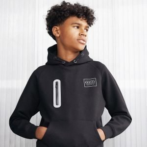 Rascal Quest Poly Overhead Hoodie Musta