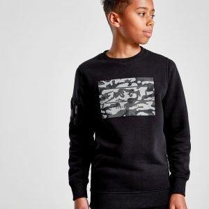 Rascal Reflective Crew Sweatshirt Musta