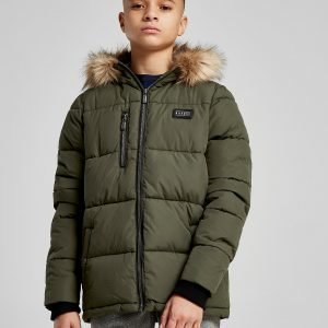 Rascal Stanton Faux Fur Trim Jacket Vihreä
