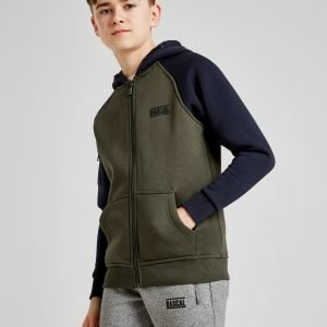 Rascal Vital Fleece Full Zip Hoodie Khaki / Navy