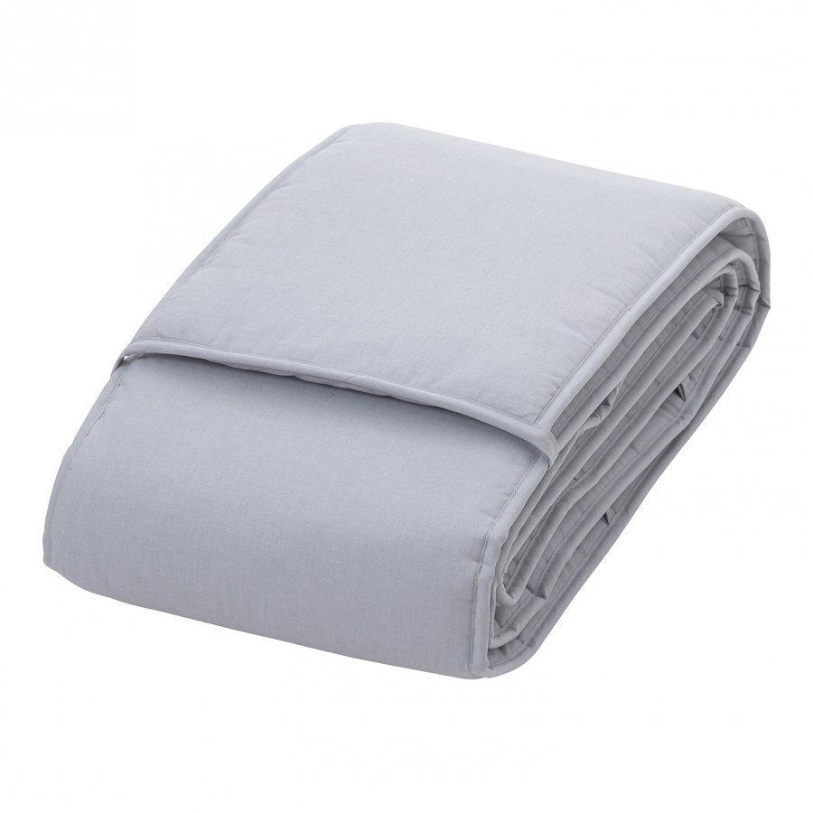 Rattstart Bed Bumper Crib Bed Grey Pinnasängyn Suoja
