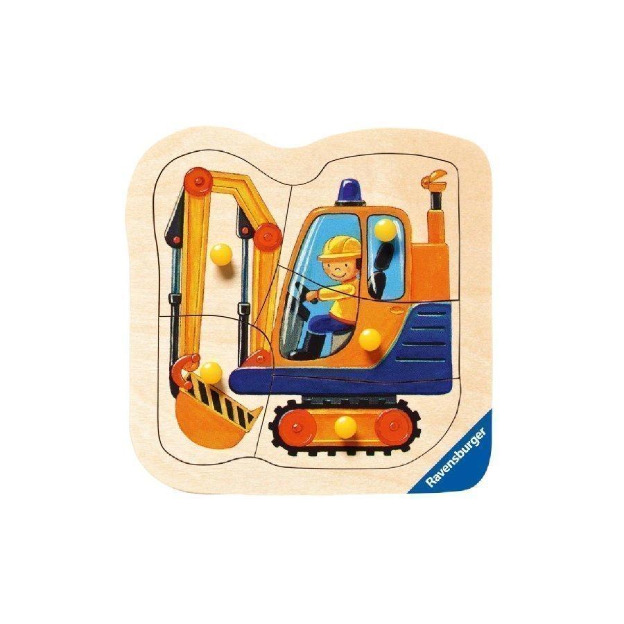 Ravensburger Nuppipalapeli Keltainen Kaivinkone 5 Palaa 03663