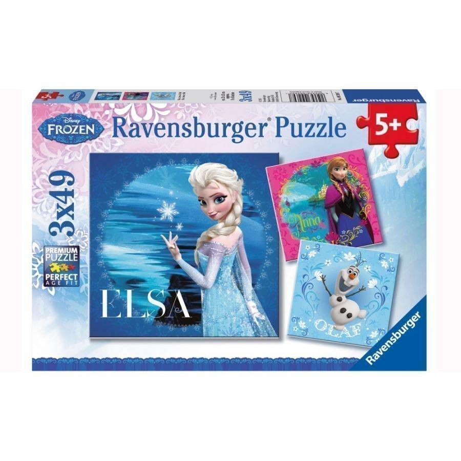 Ravensburger Palapeli 3 X 49 Disney Frozen Elsa Anna & Olaf