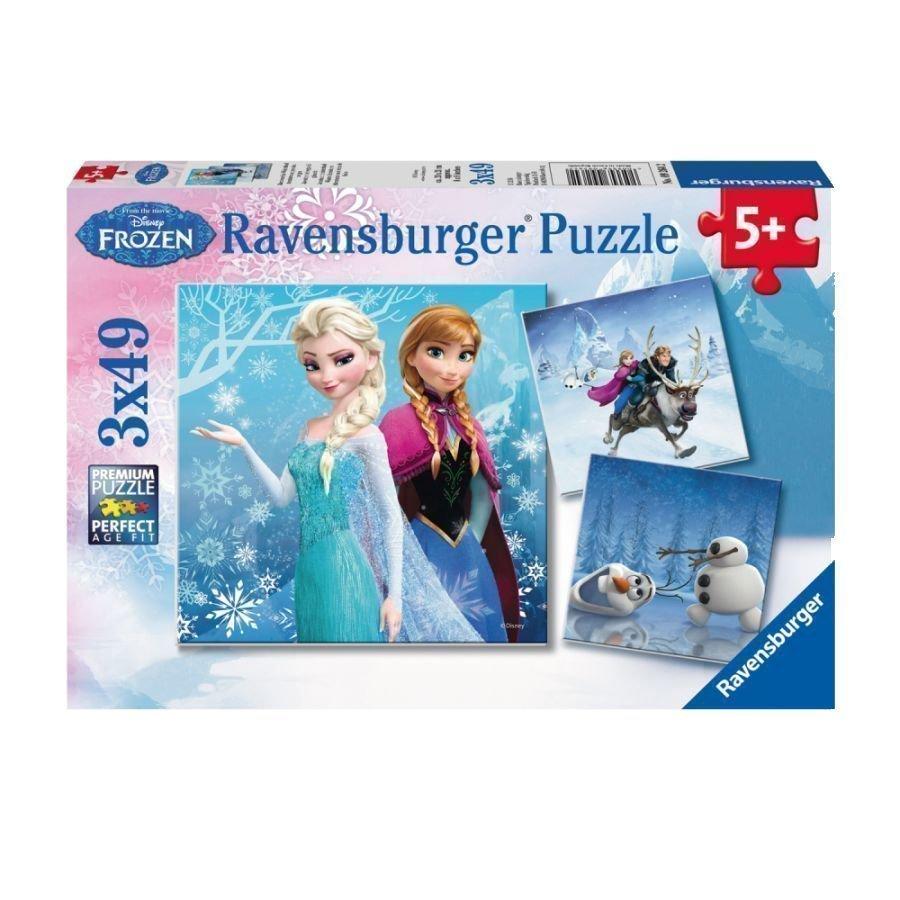 Ravensburger Palapeli 3 X 49 Disney Frozen Huurteinen Seikkailu