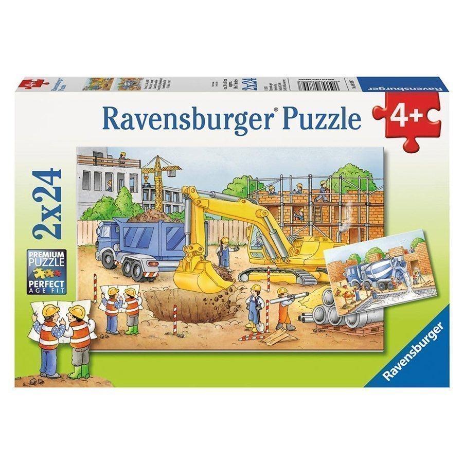 Ravensburger Palapeli Rakennustyömaa 2x24 Palaa