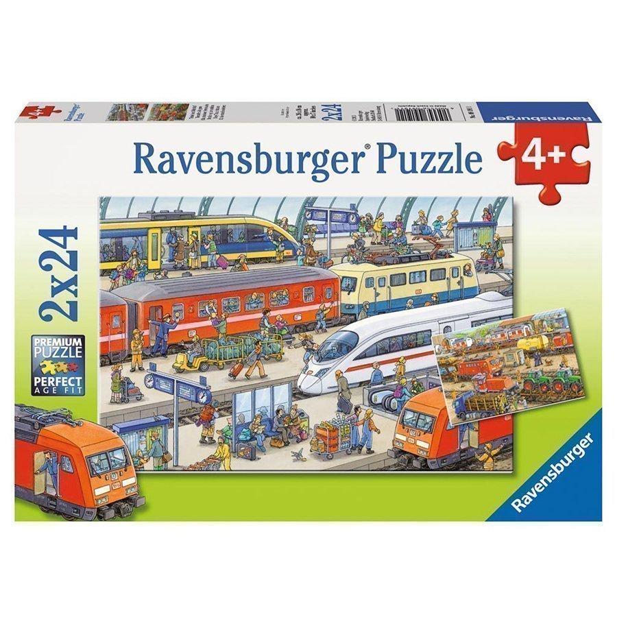 Ravensburger Palapeli Vilskettä Rautatieasemalla 2x24 Palaa 09191