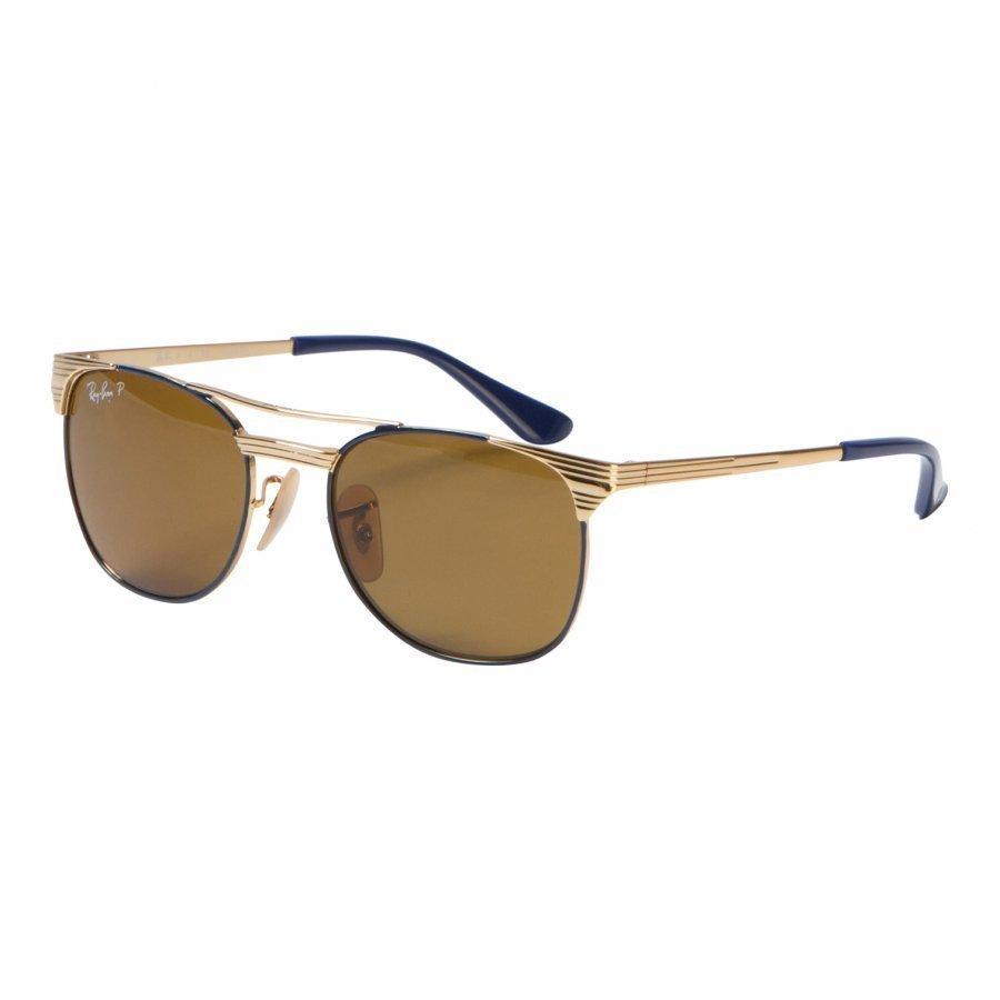 Ray-Ban Signet Junior Sunglasses Gold/Blue/Polarized Brown Classic B-15 Aurinkolasit