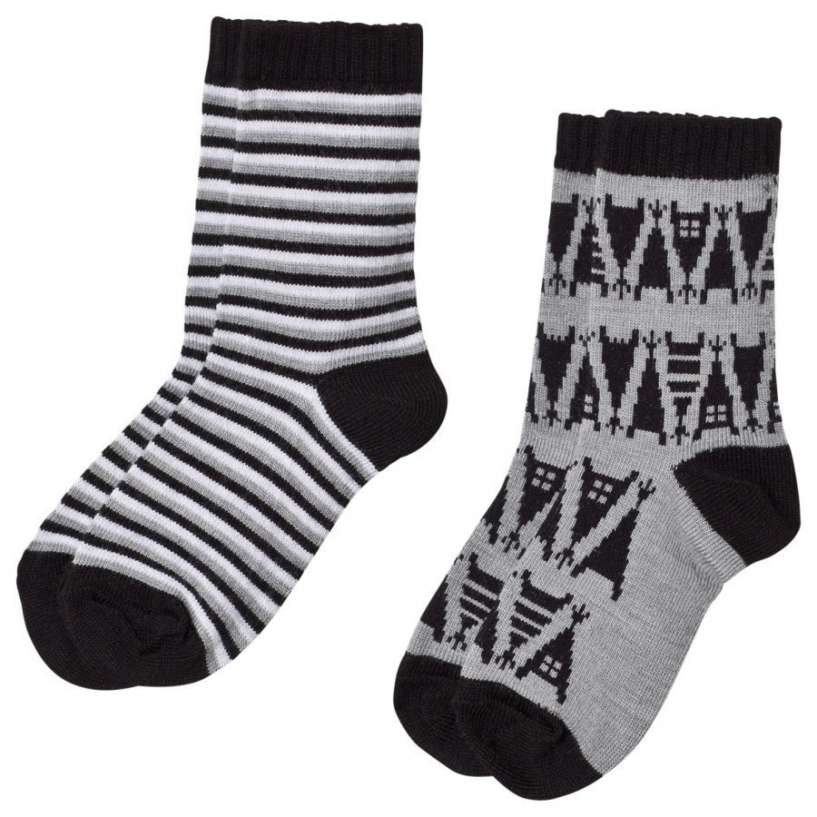 Reima 2-Pack Socks Strum Melange Grey Sukat