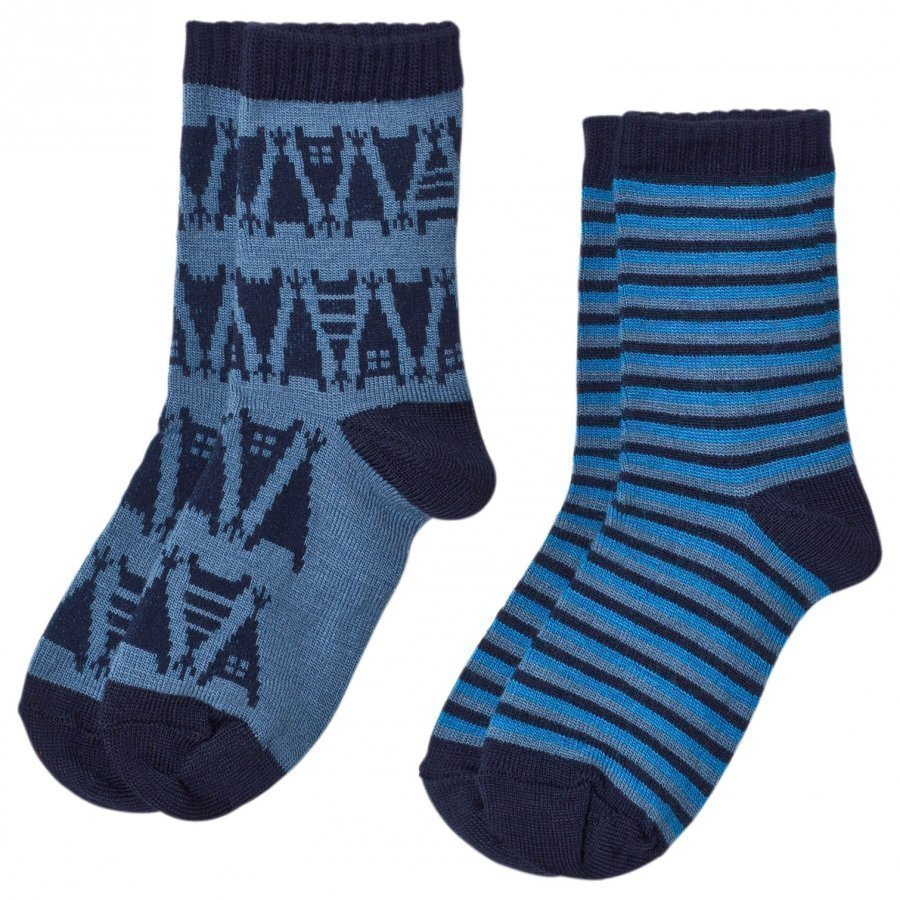 Reima 2-Pack Socks Strum Soft Blue Sukat