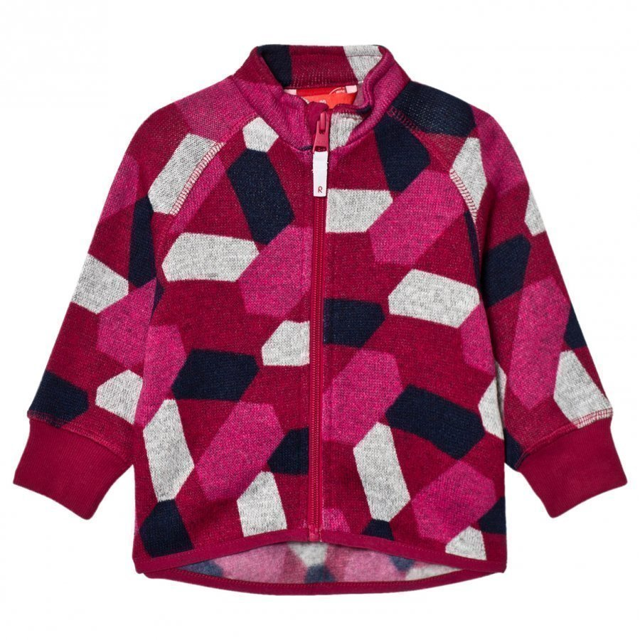 Reima Fleece Sweater Ornament Dark Berry Fleece Takki