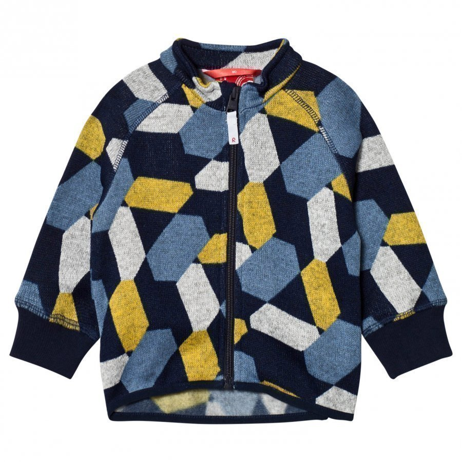 Reima Fleece Sweater Ornament Navy Fleece Takki