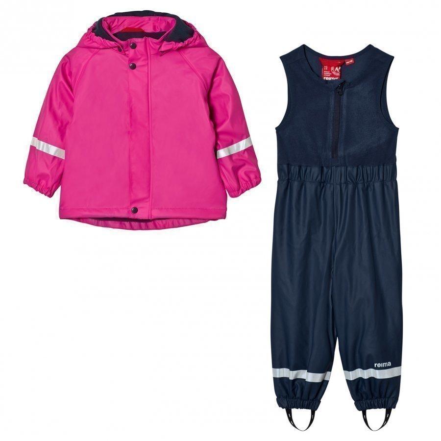 Reima Joki Rain Outfit Pink Sadesetti