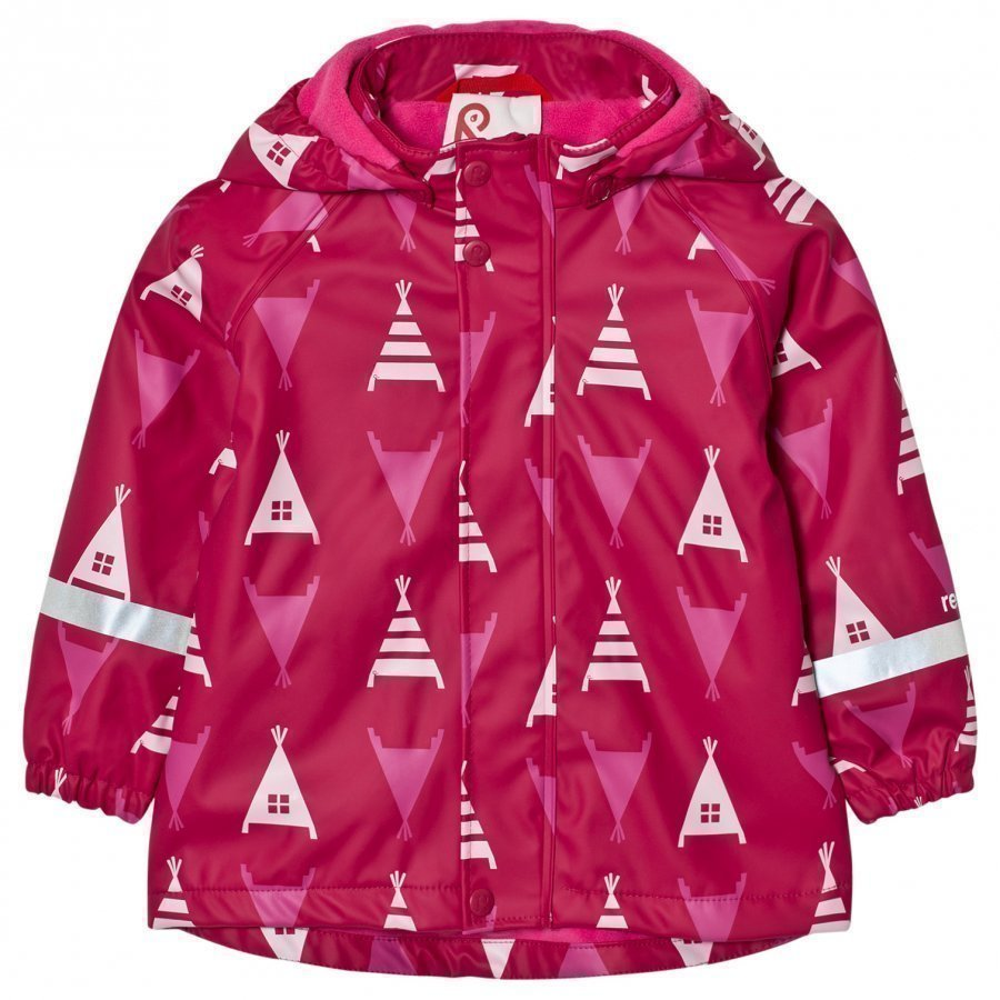 Reima Koski Raincoat Dark Berry Sadetakki