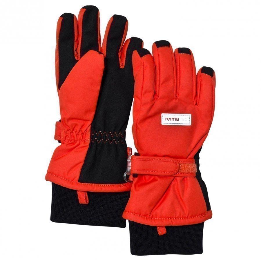 Reima Reimatec Gloves Tartu Flame Red Fleece Hanskat