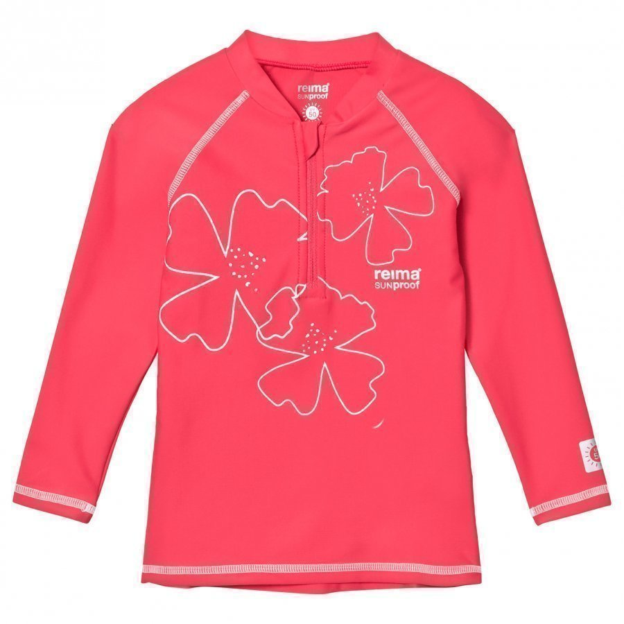 Reima Solomon Swim Shirt Strawberry Red Uv-Paita