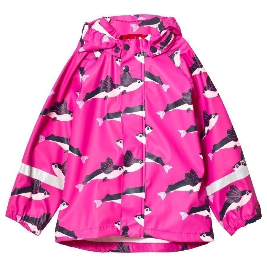 Reima Vesi Raincoat Pink Sadetakki