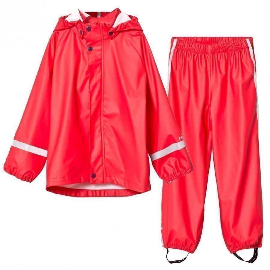 Reima Viima Rain Outfit Red Sadesetti