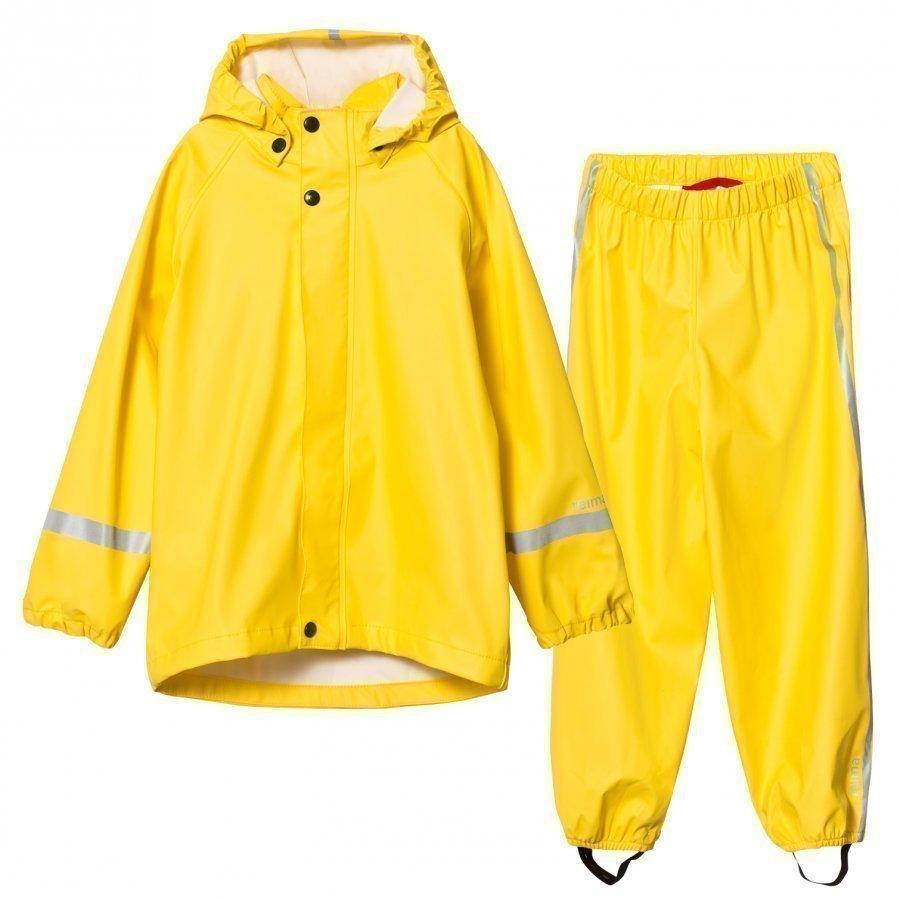 Reima Viima Rain Outfit Yellow Sadesetti