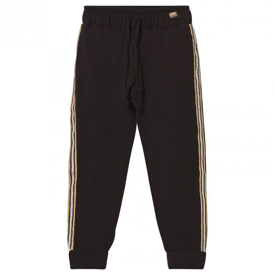 Relish Black Lightweight Track Pants With Glitter Trim Verryttelyhousut