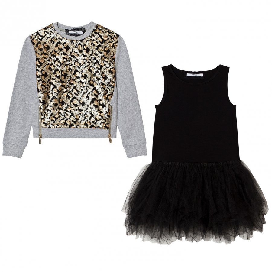 Relish Leopard Sequin Tutu Dress Juhlamekko