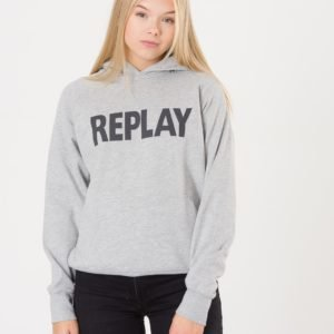 Replay Hooded Sweater Huppari Harmaa