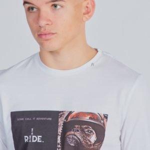 Replay Long Sleeved T Shirt T-Paita Valkoinen