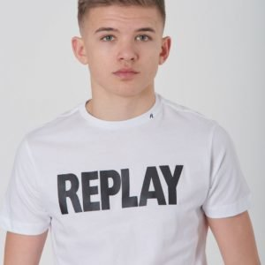 Replay T Shirt T-Paita Valkoinen
